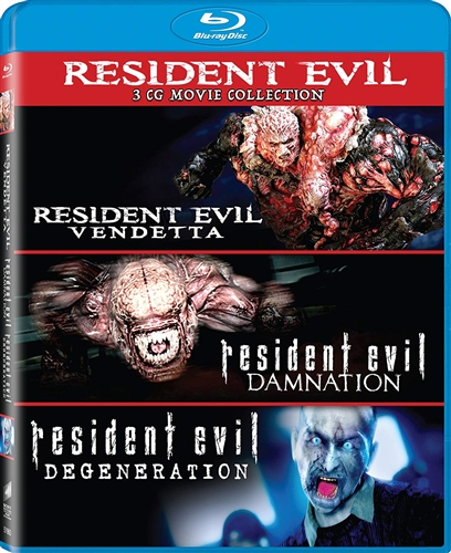 Resident Evil 3 Cg Movies Collection New Blu Ray Damnation