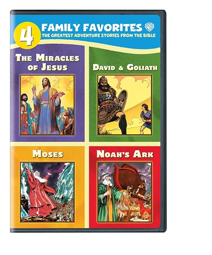 4 FAMILY FAVORITES THE GREATEST ADVENTURE STORIES FROM THE BIBLE New 4 DVD Set