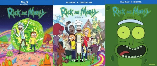 RICK AND MORTY TV SERIES COMPLETE SEASONS 1 - 3 New Sealed Blu-ray 1 2 3
